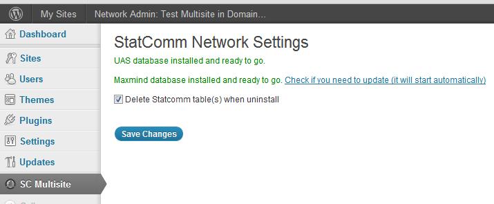 Statcomm Network Settings